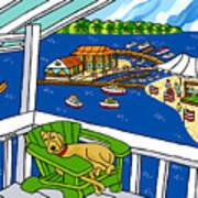 July 4th Snoozer - Cedar Key Art Print