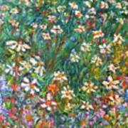 Jumbled Up Wildflowers Art Print