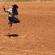 Jump Rope Cowboy Style Art Print