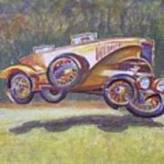 Jumpin Auburn Car Art Print