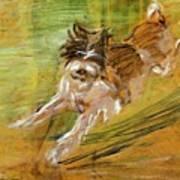 Jumping Dog Schlick 1908 Art Print
