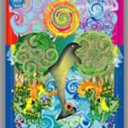 Jumping Dolphin Art Print