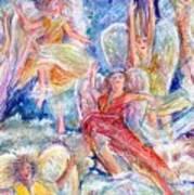 Jumping For Joy Angels Art Print