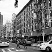 junction of bayard street and mulberry street chinatown New York City USA Art Print