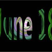 June 18 Art Print