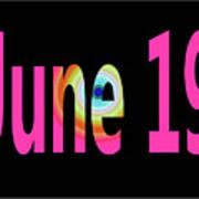 June 19 Art Print