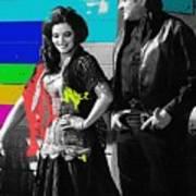 June Carter Cash Johnny Cash In Costume Old Tucson Arizona 1971-2008 Art Print