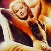 June Haver, Vintage Hollywood Actress Art Print