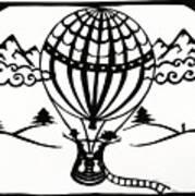 June In A Balloon Art Print