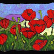 June Poppies Art Print