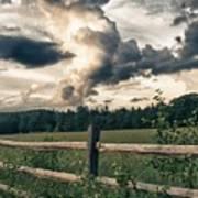 June Thunderstorms Along Connecticut River Art Print