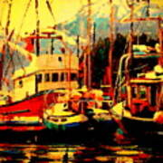 Juneau Boats Art Print