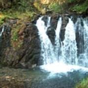 Juneau Waterfall Art Print