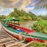 Jungle Boat Art Print