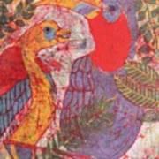 Jungle Chit Chat Batik Art Print