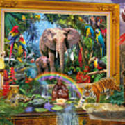 Jungle Coming Art Print
