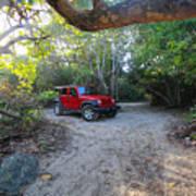 Jungle Jeep Art Print