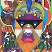 Jungle Mask Art Print