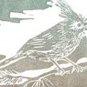 Juniper Titmouse Art Print