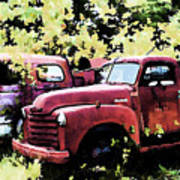 Junked Fire Engines Art Print