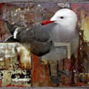 Junkyard Gull Art Print