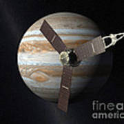 Juno Mission To Jupiter Art Print