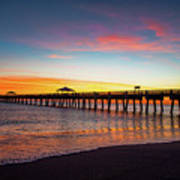 Juno Pier Colorful Sunrise Art Print
