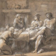 Jupiter And Mercury In The House Of Baucis And Philemon Art Print