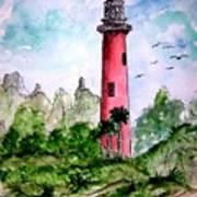 Jupiter Florida Lighthouse Art Print