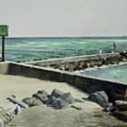 Jupiter Inlet Marine Marker One  Art Print