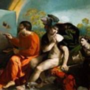 Jupiter Mercury And Virtue 1524 Art Print