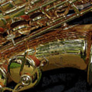 Jupiter Saxophone Art Print by Michelle Calkins