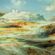 Jupiter Terrace  Yellowstone Art Print