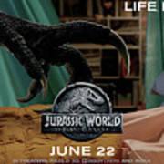 Jurassic World Fallen Kingdom 2.5 Art Print