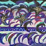Just A Little Night Mosaic Art Print