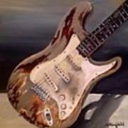 Just Broken In- Old Guitar Art Print