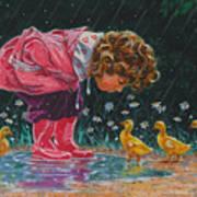 Just Ducky Art Print by Richard De Wolfe