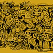 Just Halloweeny Things V5 Art Print by Chelsea Geldean