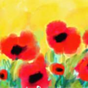 Just Poppies Art Print