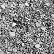 Just Rocks - Black And White Art Print