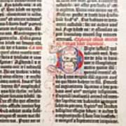 Gutenberg Bible Art Print