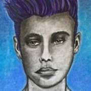 Justin Bieber-daydreaming  Art Print