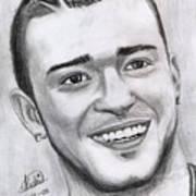 Justing Timberlake Portrait Art Print