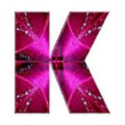 k kk kkk Alpha Art on Shirts alphabets initials   shirts jersey t-shirts v-neck by NavinJoshi Art Print