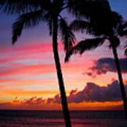 Kaanapali Sunset  Kaanapali  Maui Hawaii Art Print
