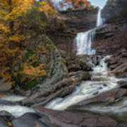 Kaaterskill Falls Autumn Square Art Print