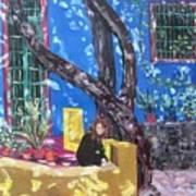 Kahlo Blue - Sold Art Print