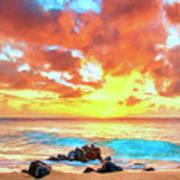 Kailua-kona Sunset Art Print