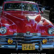Kaiser Virginian Deluxe - 1949 Convertible Art Print