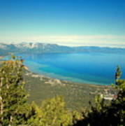 Lake Tahoe From The Top Of Heavenly Gondola Art Print